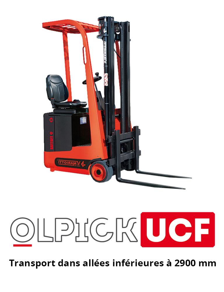 Olpick UCF, transport dans allées inférieures à 2900 mm